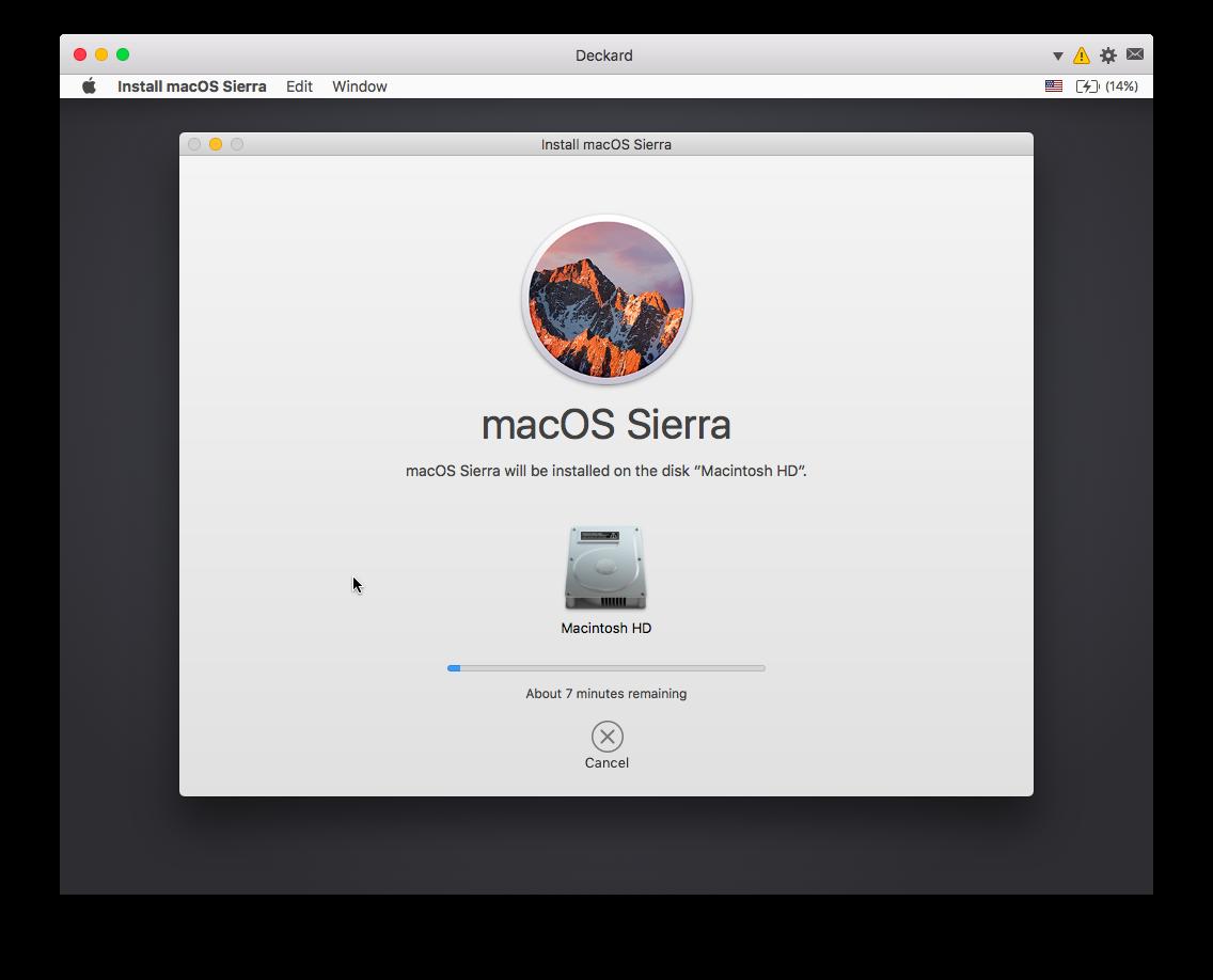 Mac installer running